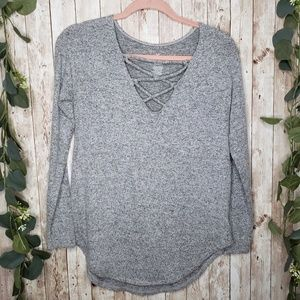American Eagle Soft and Sexy Gray Top XS